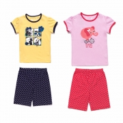 Dívčí pyžamo krátké komplet ( tričko + šortky)