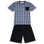 Pánské pyžamo s krátkým rukávem a nohavicí.