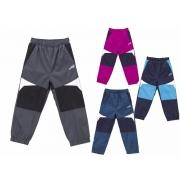 Dětské šusťákové kalhoty s flísem