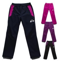 Dívčí softshellové kalhoty s fleecem
